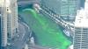 Eveniment SPECTACULOS! Un râu din Chicago, colorat în verde