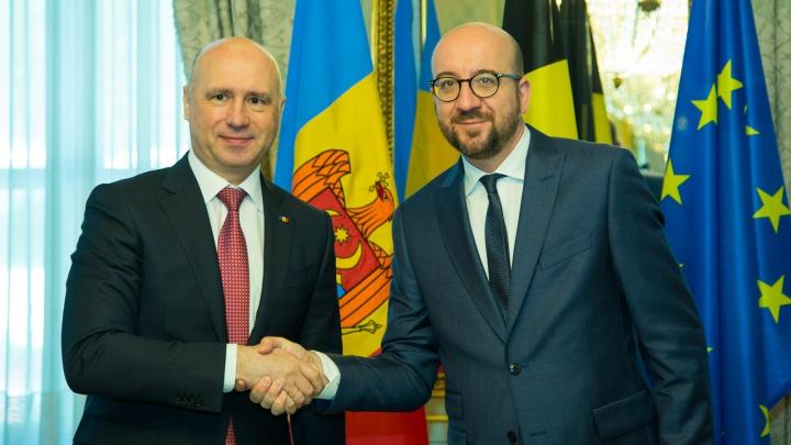 Premierii Pavel Filip şi Charles Michel pledează pentru consolidarea relaţiilor moldo-belgiene (FOTO)