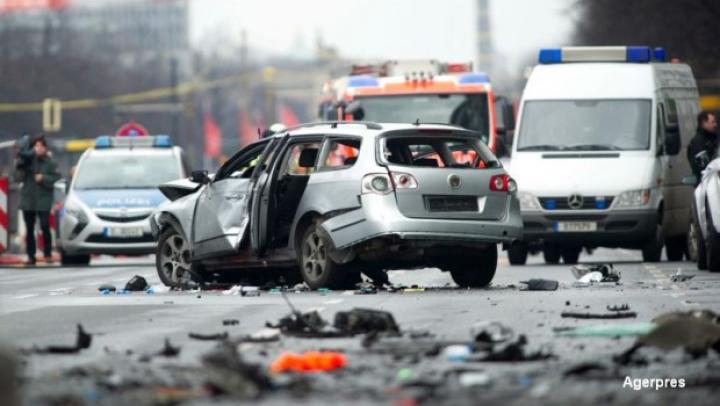 Atac terorist în Ucraina. Maşina unui oficial al serviciilor de securitate, detonată