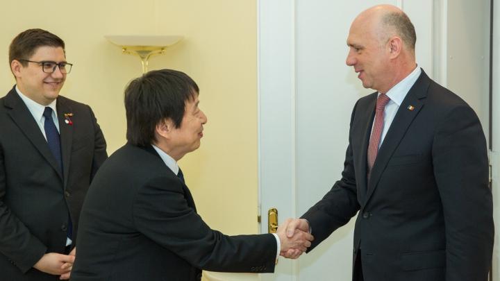 Prim-ministrul Pavel Filip s-a întâlnit cu ambasadorul Japoniei în Republica Moldova, Masanobu Yoshii