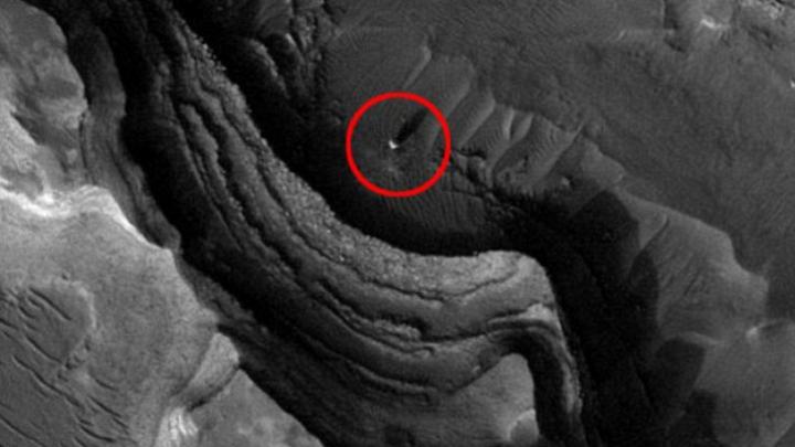 Un satelit NASA a surprins o sferă luminoasă pe planeta Marte