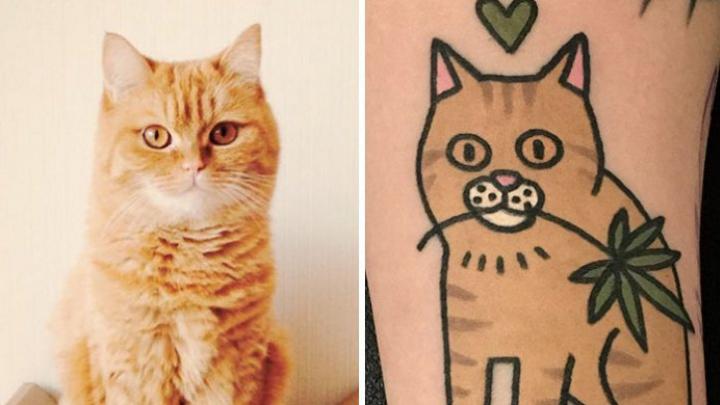 Cele mai AMUZANTE tatuaje! Un artist face portretele animalelor de casă ale clienților (GALERIE FOTO)