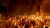 Paştele 2017. Momentul în care Lumina Sfântă s-a aprins în Biserica Mormântului Sfânt din Ierusalim (VIDEO)