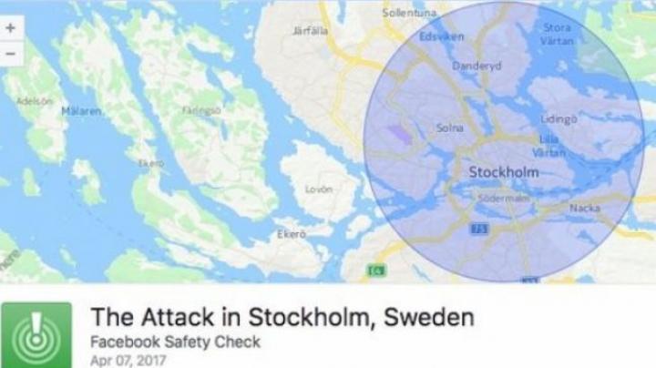 """Atentat terorist în Suedia. Facebook a activat opţiunea """"safety check"""" după atacul din Stockholm"""