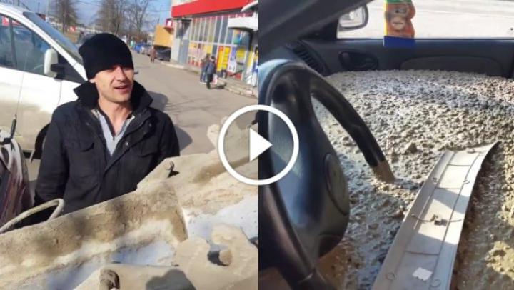 Farsa nebună a unui bărbat din Rusia pentru soţia lui. Ce a făcut cu maşina femeii (VIDEO)