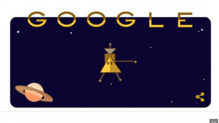 Nava spaţială Cassini, celebrată de Google printr-un Doodle: Saturn, pregătește-te!