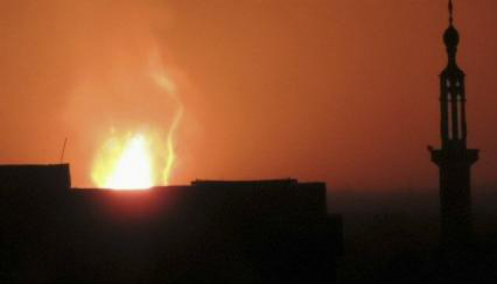 Siria: Explozie puternică în apropiere de aeroportul din Damasc (VIDEO)