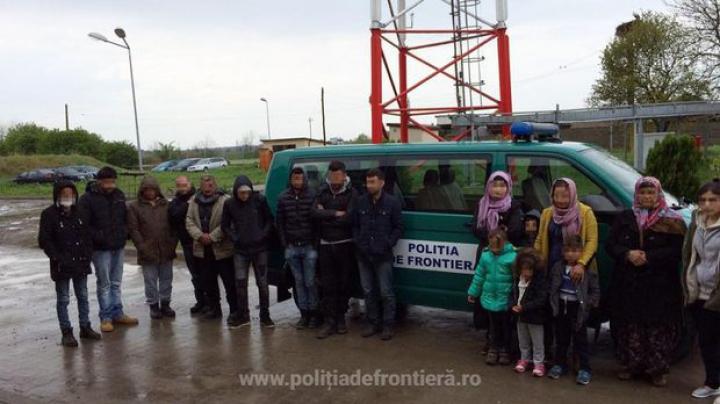 Zeci de migranți au fost prinși la granița de vest a României