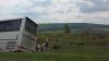 ACCIDENT pe traseul Chișinău-Leușeni! Un autobuz cu pasageri a ajuns într-un șanț (VIDEO)