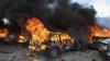 Şase maşini arse într-o parcare din Moscova