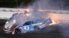 Accident teribil în cursa NASCAR! Maşina americancei Danica Patrick a luat foc