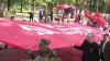 Marşul comuniştilor de 9 mai: Au îmbrăcat uniforme ale soldaţilor şi au fredonat cântece ostăşeşti