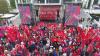 Circulaţie blocată în Capitală de 1 mai. Socialiştii au organizat un miting de Ziua Muncii