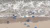 Tsunami în Olanda. Un VAL URIAȘ a spălat plaja și a speriat turiștii (VIDEO)
