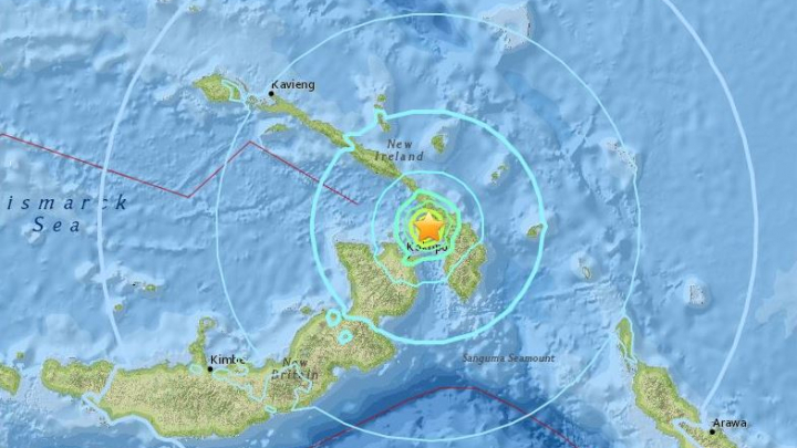 Cutremur de 6.2 grade în Papua Noua Guinee. Nu a fost emisă alertă de tsunami