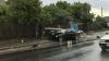 ACCIDENT TERIBIL la Peresecina. Un şofer A DOBORÂT un pilon de electricitate (FOTO)
