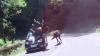 IMAGINI ȘOCANTE. Un autoturism a lovit un cal. Ce s-a întâmplat cu animalul, este de neașteptat (VIDEO)