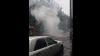 Momentul în care o mașină ARDE în Capitală. Proprietarul mașinii, în stare avansată de ebrietate (VIDEO)
