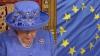 Regina Marii Britanii, cu o pălărie asemănătoare steagului UE la ceremonia discursului din Parlamentul englez