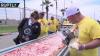 RECORD! Unde a fost preparată cea mai lungă pizza din lume, de doi kilometri. Mii de oameni au gustat din ea