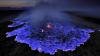 NEOBIŞNUIT! Un vulcan din Indonezia luceşte ALBASTRU pe timp de noapte (VIDEO)