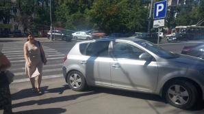 Şofer cu TUPEU! Cum şi-a parcat maşina un conducător auto din Capitală (FOTO)