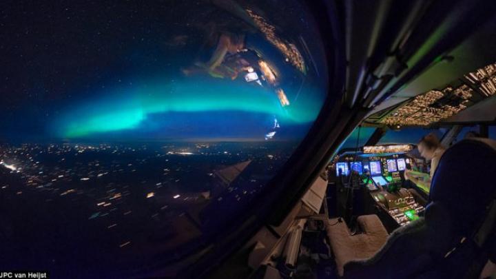 """IMAGINI FASCINANTE publicate de un pilot. Cum se vede lumea din """"biroul lui"""""""