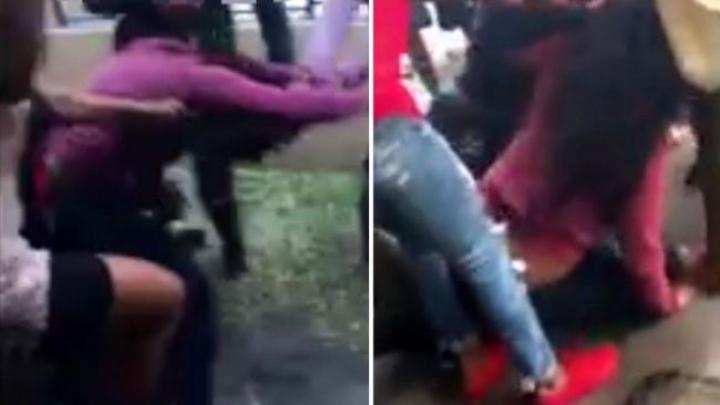 Scandal rar! Bătaie între opt femei din cauza unui bărbat. A fost nevoie de intervenția Poliției (VIDEO)