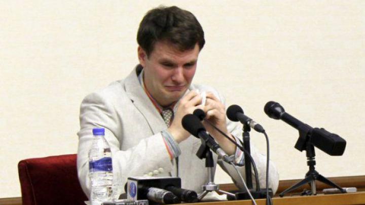 Studentul american, condamnat la 15 ani de muncă într-o închisoare din Coreea de Nord, a fost ELIBERAT