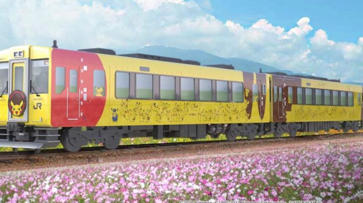 Japonezii au lansat un tren inspirat din Pikachu, având ca motiv un SCOP NOBIL (FOTO)