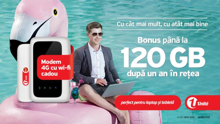 (P) Bucură-te de cel mai generos program de loialitate, cu până la 120 GB de trafic Internet mobil bonus, după 1 an de aflare în reţeaua Unite
