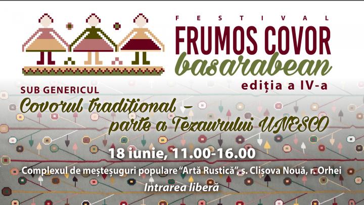 """Cele mai frumoase covoare moştenite din strămoşi vor fi expuse la festivalul """"Frumos Covor Basarabean"""""""