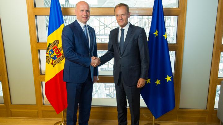 Pavel Filip şi Donald Tusk au discutat despre reformele europene: Vom fi mai ambiţioşi în atingerea obiectivelor