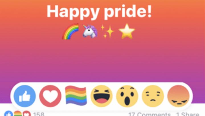 Facebook are o nouă reacție. Ce semnifică noul emoji cu steagul curcubeu
