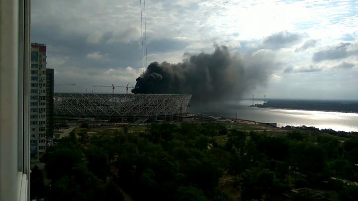 Rusia: Arena unde va avea loc Campionatul Mondial din 2018 a fost curprinsă de flăcări (VIDEO)