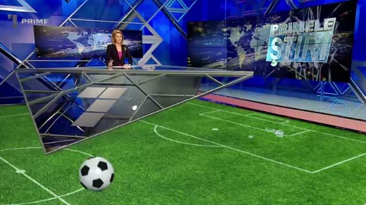 (VIDEO) O minge a spart o plasmă în studioul Primele Știri de la PRIME TV, în emisie directă