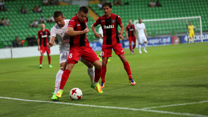 Liga Europei: Zaria Bălți a învins cu 2-1 formaţia bosniacă FC Sarajevo (FOTOREPORT)