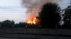 INCENDIU VIOLENT la cel mai mare depozit de crengi din Capitală. 6.000 de metri pătraţi, afectaţi de flăcări (VIDEO)