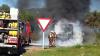 Un autobuz din Germania a luat foc! 31 de pasageri au fost grav răniţi în urma accidentului