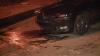 Accident pe strada Vasile Lupu din Capitală: O maşina a ajuns într-o ţeavă de canalizare