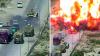 Un soldat egiptean a trecut cu tancul peste o mașină-capcană, plină cu explozibil (VIDEO)