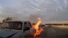 IMAGINI DRAMATICE! Trei persoane SALVATE în ultimul moment de la MOARTE SIGURĂ (VIDEO)