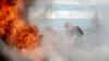 Acoperişul unui local de tip fast food din sectorul Buiucani, a luat foc