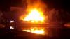 O cafenea din Odesa a fost cuprinsă de flăcări. O suprafaţă de 500 de metri pătraţi, afectată de foc