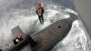 Preşedintele francez a urcat la bordul unui submarin nuclear, la 300 de km de larg
