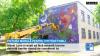 Satul Costești prinde culoare. Un tânăr a transformat peretele bibliotecii într-o adevărată operă de artă