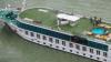 Alertă pe Dunăre. O navă de croazieră a luat foc. 8 persoane rănite