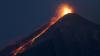 Vecinătatea Guatemalei, sub cenușa Vulcanului de Foc. Materia se ridică la 4.800 de metri peste nivelul mării