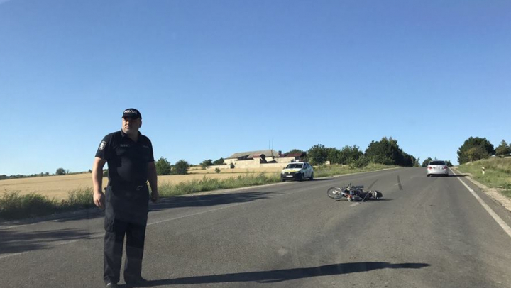 ACUM! Un motociclist accidentat în raionul Orhei (FOTO)