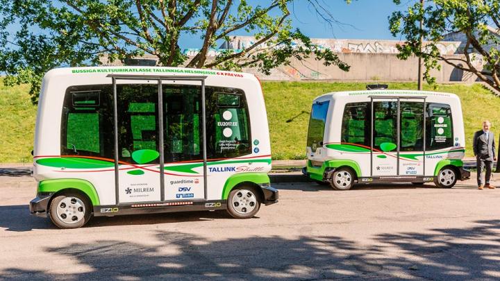 Minibusuri fără șofer în Tallinn. Pasagerii nu vor plăti călătoria (FOTO)